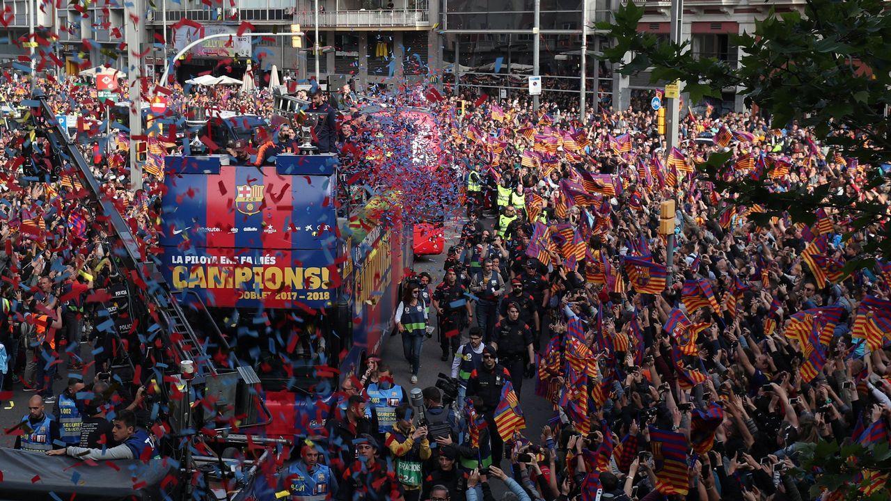 Las mejores imágenes de la celebración liguera del Barça.Luis Enrique