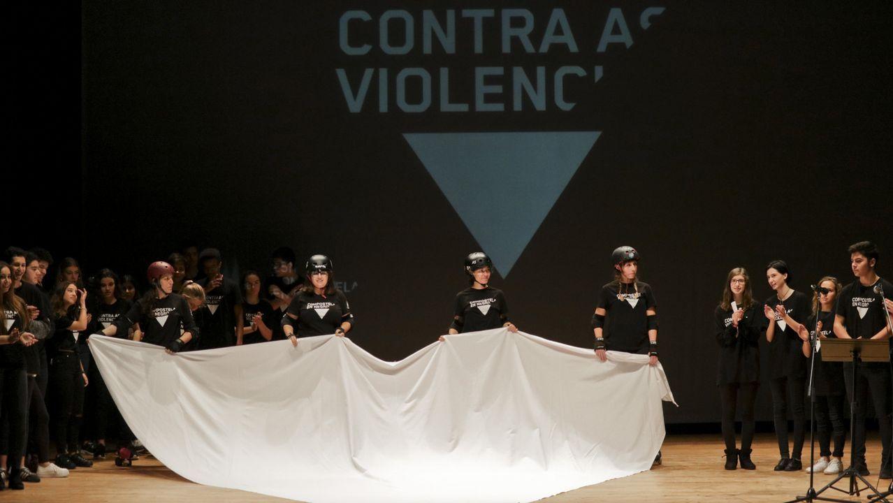 Grito unánime en Compostela contra la violencia machista
