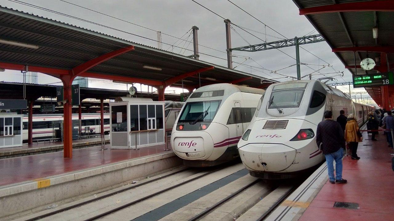 Huca, Oviedo .Tren Madrid-Asturias