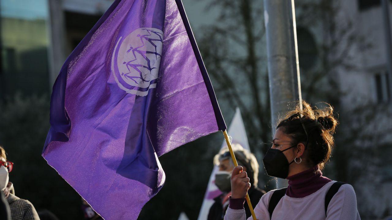 La manifestación por el 8M en Ourense