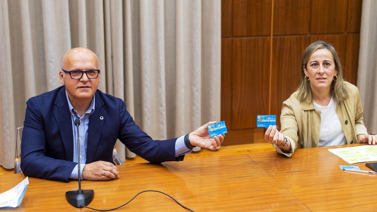 José Manuel Baltar y Ethel Vázquez, tras la reunión de este jueves