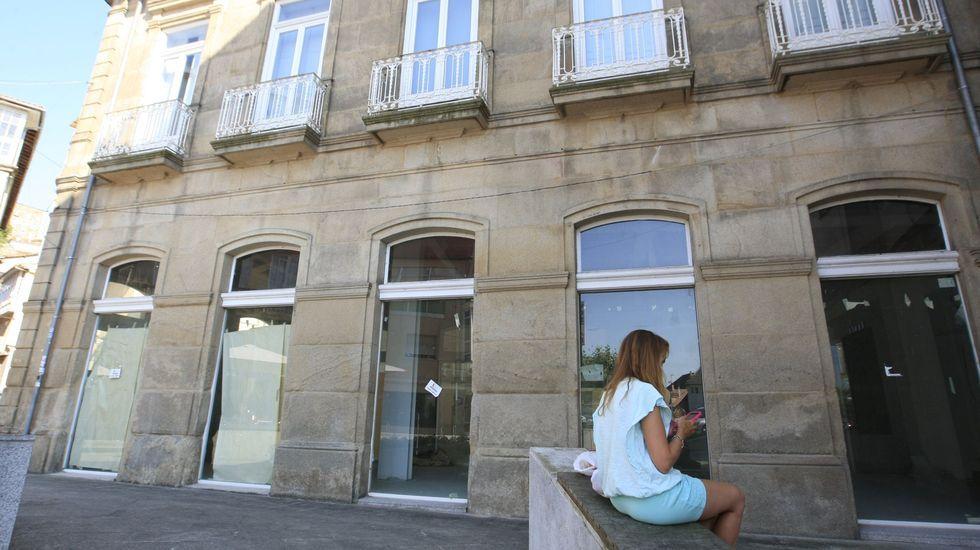 Bajo del antiguo hotel Comercio, donde funcionará la oficina del peregrino