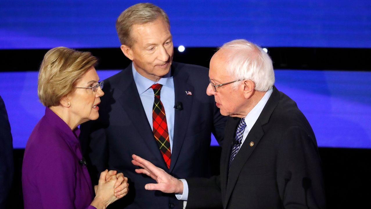 Una plancha metálica que salió despedida del reactor, mató a la primera víctima de la explosión.Elizabeth Warren y Bernie Sanders