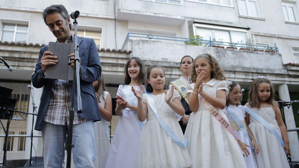 Xulio Ferreiro en las fiestas de Los Castros