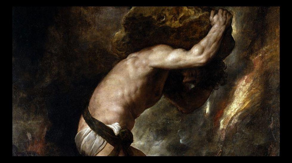 «Sísifo», óleo sobre lienzo de Tiziano (1549). Museo del Prado