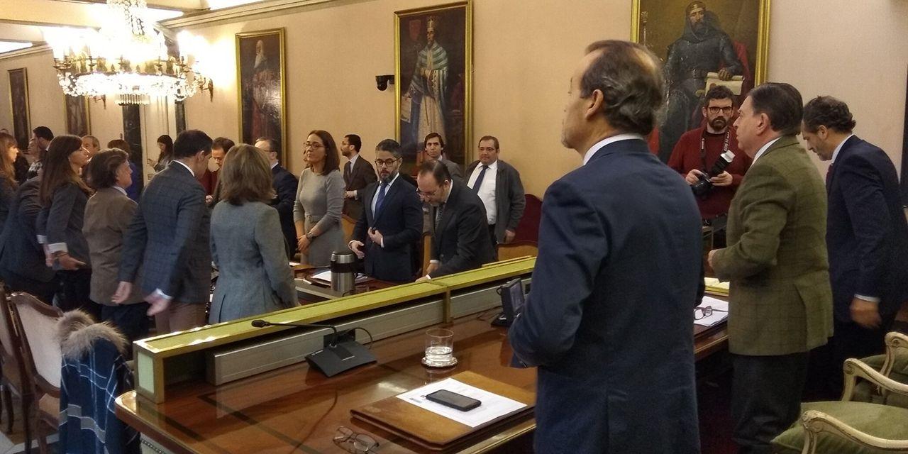 Pleno municipal en el Ayuntamiento de Oviedo