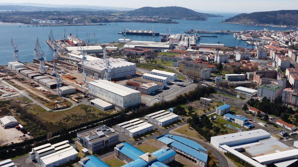 Imagen aérea de Navantia, en foto de archivo