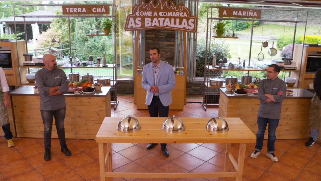 La candidata a la Presidencia de la Comunidad de Madrid, Isabel Díaz Ayuso, y el presidente del PP, Pablo Casado, en uno de los establecimientos del empresario de origen mariñano Juan Olloqui Pérez Mel