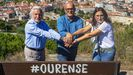 Rosendo Fernández, José Manuel Baltar y Ana Villarino escenificaron así los cambios en la cúpula del PP de Ourense.
