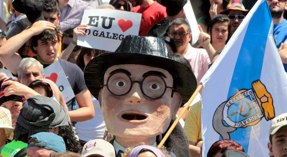 Imagen de una de las marchas de «Queremos galego» celebrada en el año 2010.