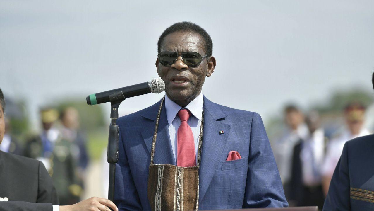 Los reyes gallegos del café.Teodoro Obiang, en una imagen de archivo