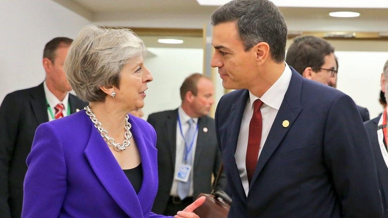Theresa May y Pedro Sánchez, en una imagen de archivo