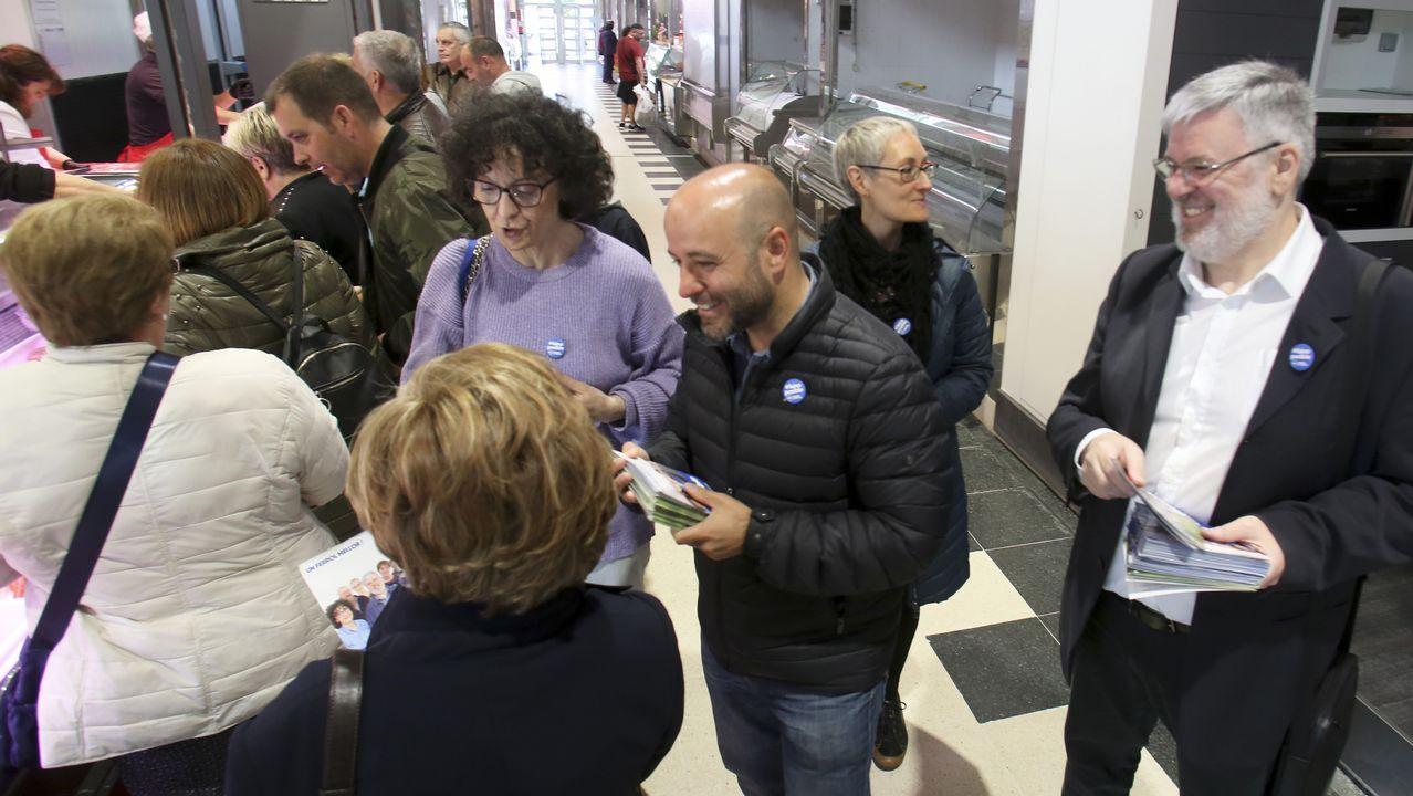 Villares durante la campaña de las municipales en Ferrol