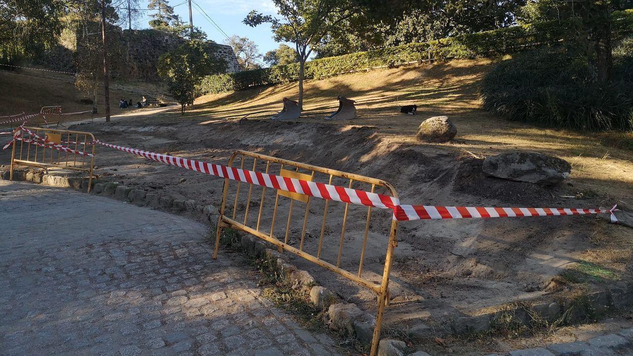 Reducción de zonas verdes en monte O Castro