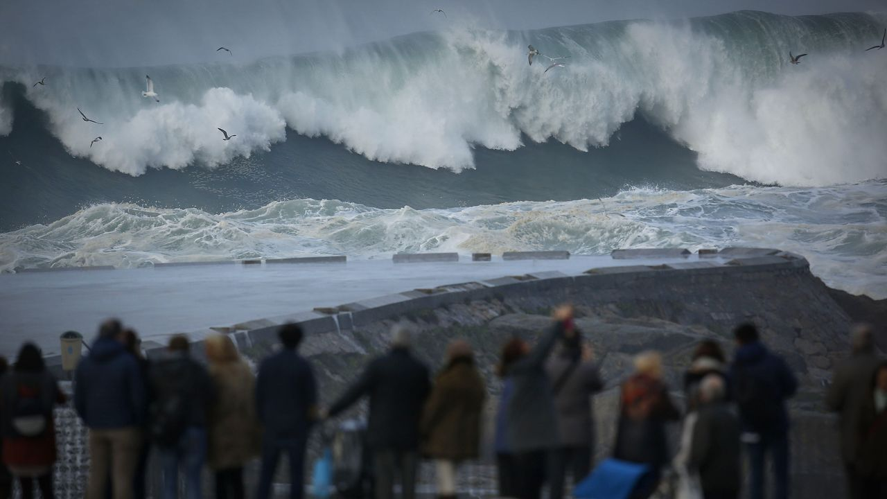 El espectáculo del mar bravo