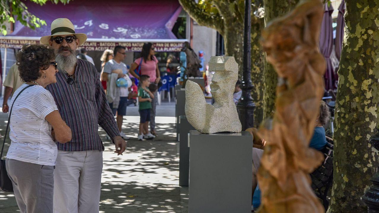 ¡Mira las imágenes de la exposición Olladas na Rúa en A Pobra!.O autor de «Scórpio» nunha viaxe cultural no 63