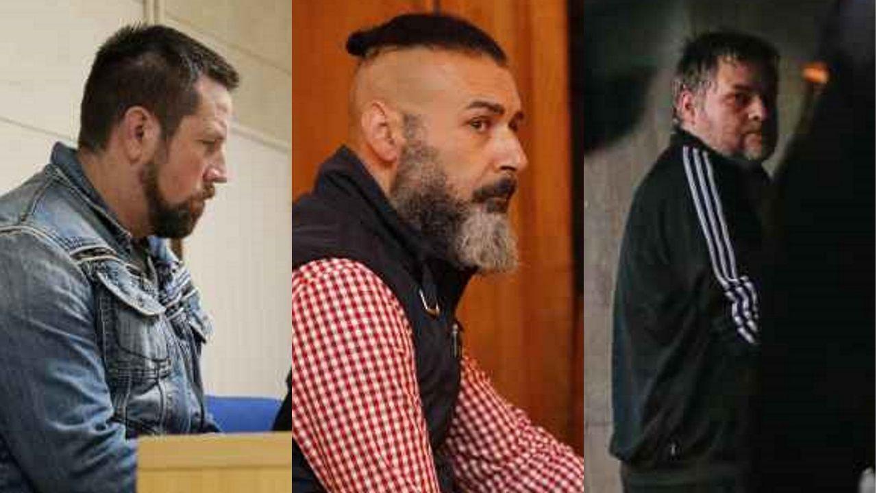 José Enrique Abuín, David Oubel y Marcos Miras, los tres únicos gallegos condenados a prisión permanente revisable