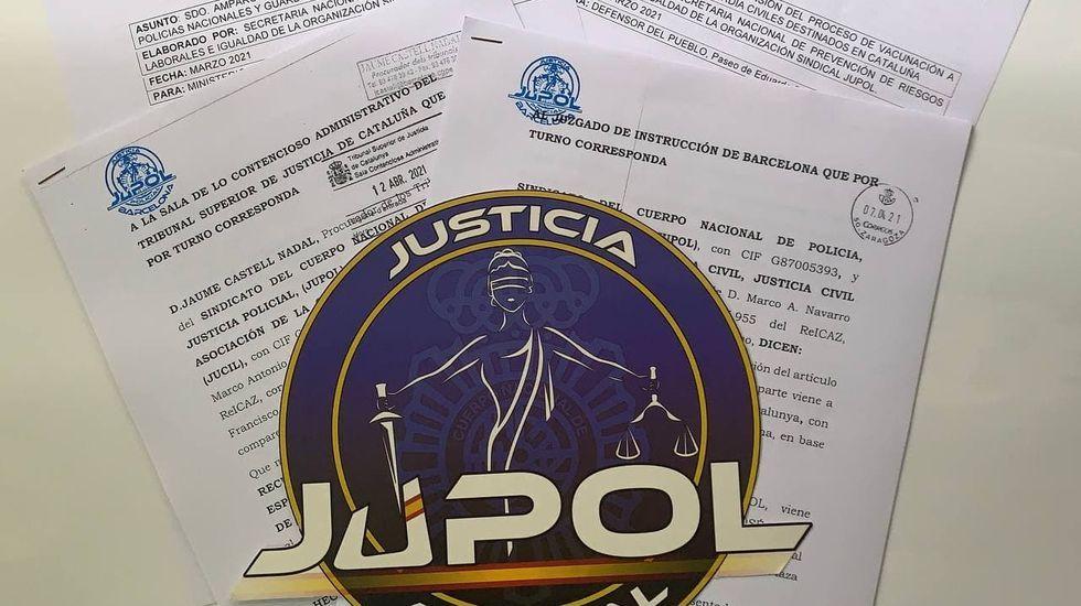 El sindicato Jupol fue una de las organizaciones que apeló a la Justicia tras no vacunarse a los agentes nacionales ni a los guardias civiles en Cataluña