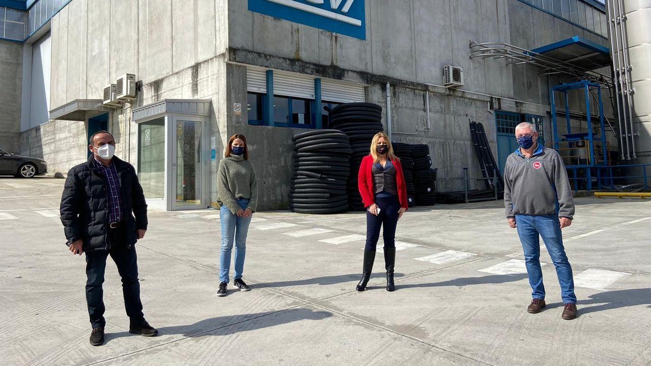 La trayectoria política de Paloma Rodríguez, en imágenes.José Tomé y Beatriz Sestayo tras la reunión celebrada este lunes en el ayuntamiento monfortino