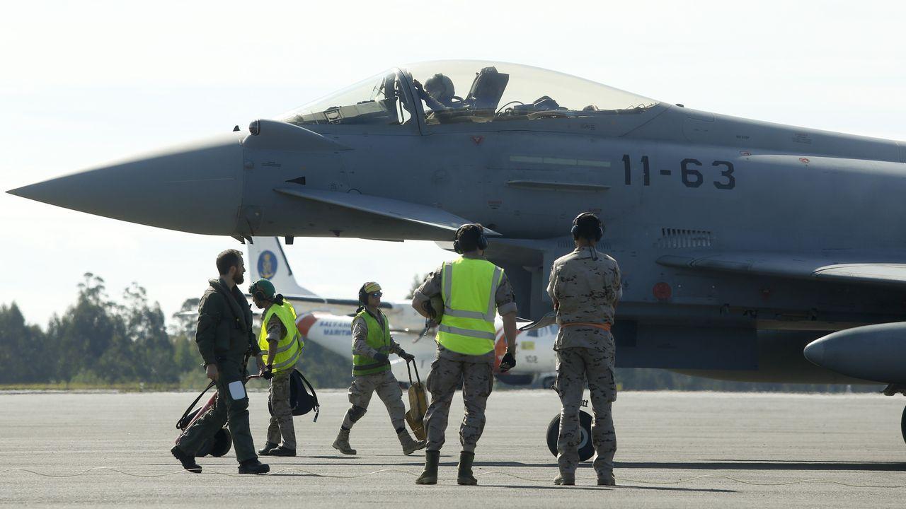 Los aviones de combate Eurofighter tienen la base en el aeródromo militar de Lavacolla