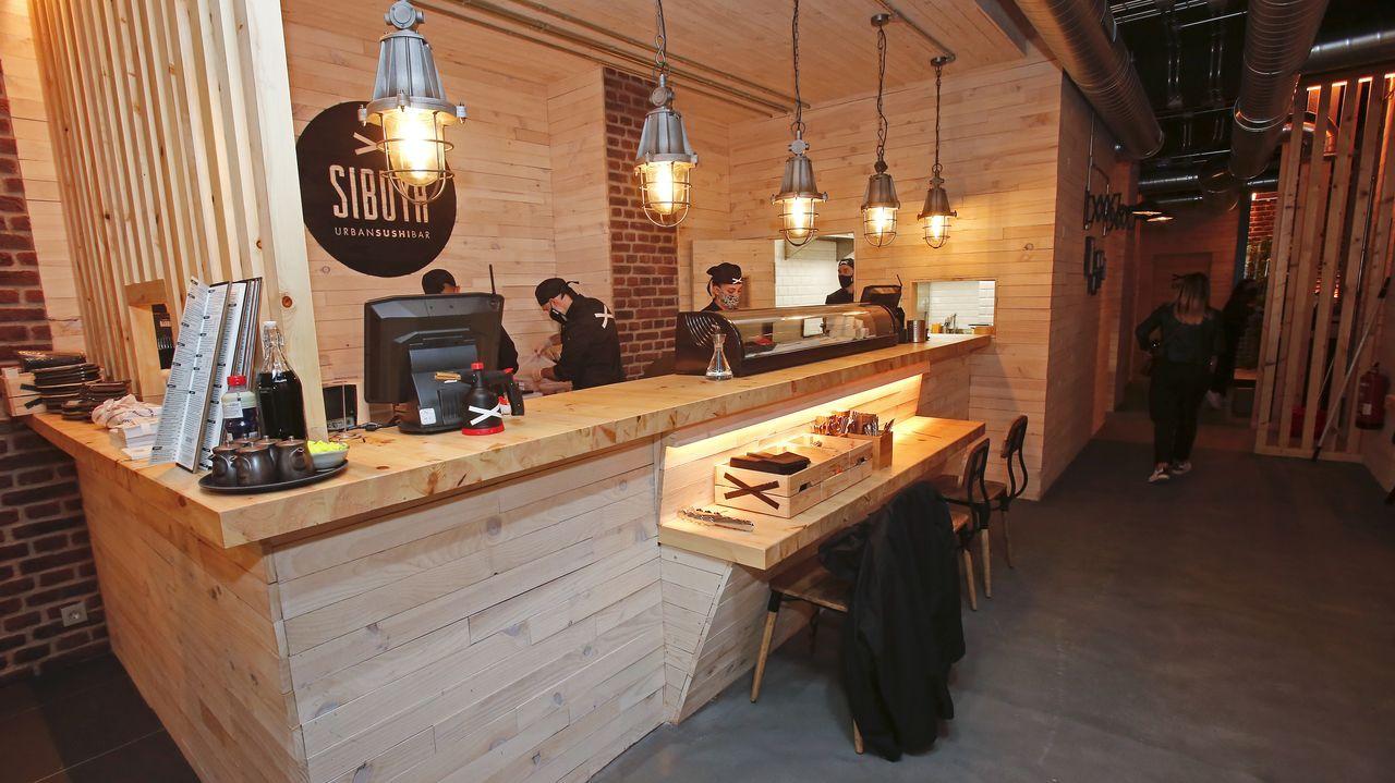 El restaurante japonés tiene una superficie de 160 metros cuadrados