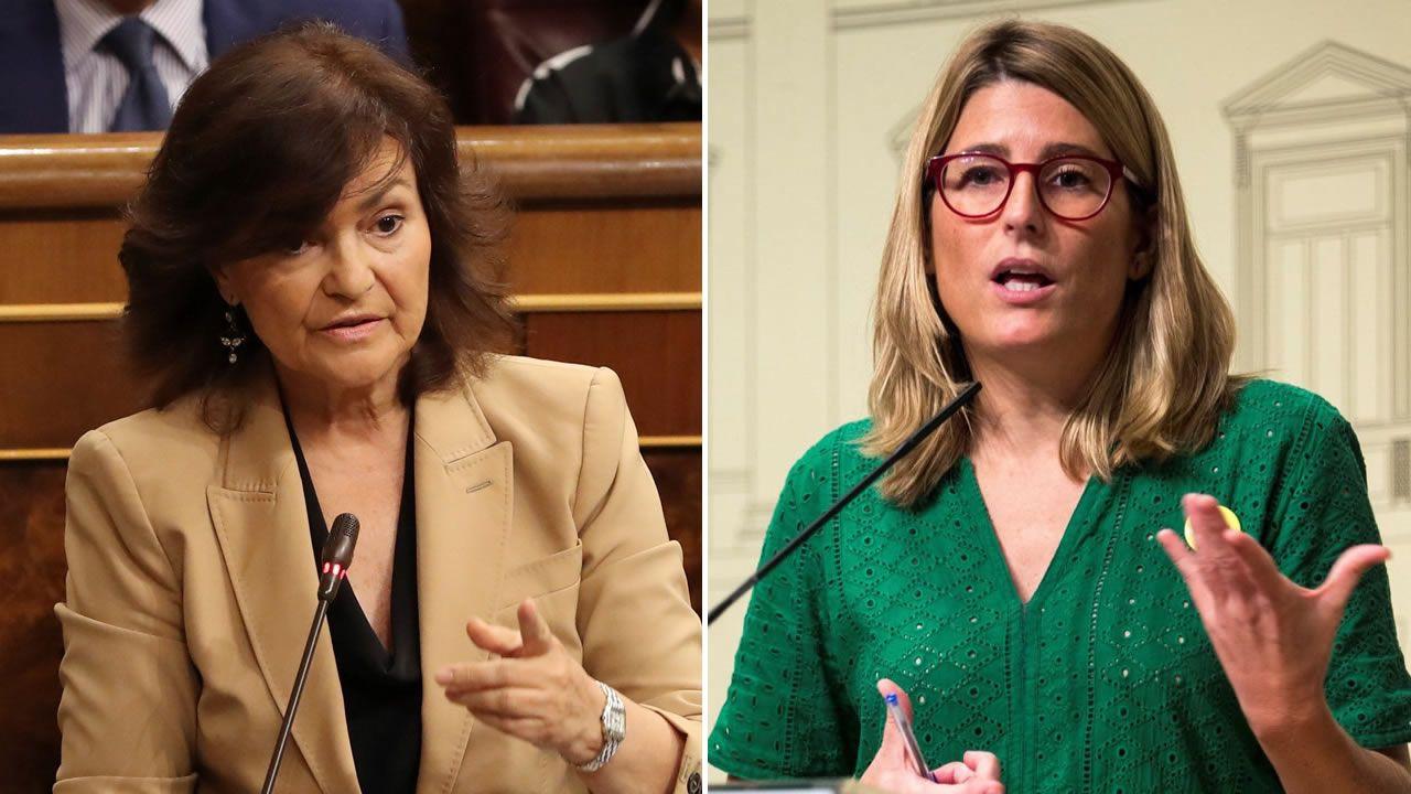 Carmen Calvo y Elsa Artadi