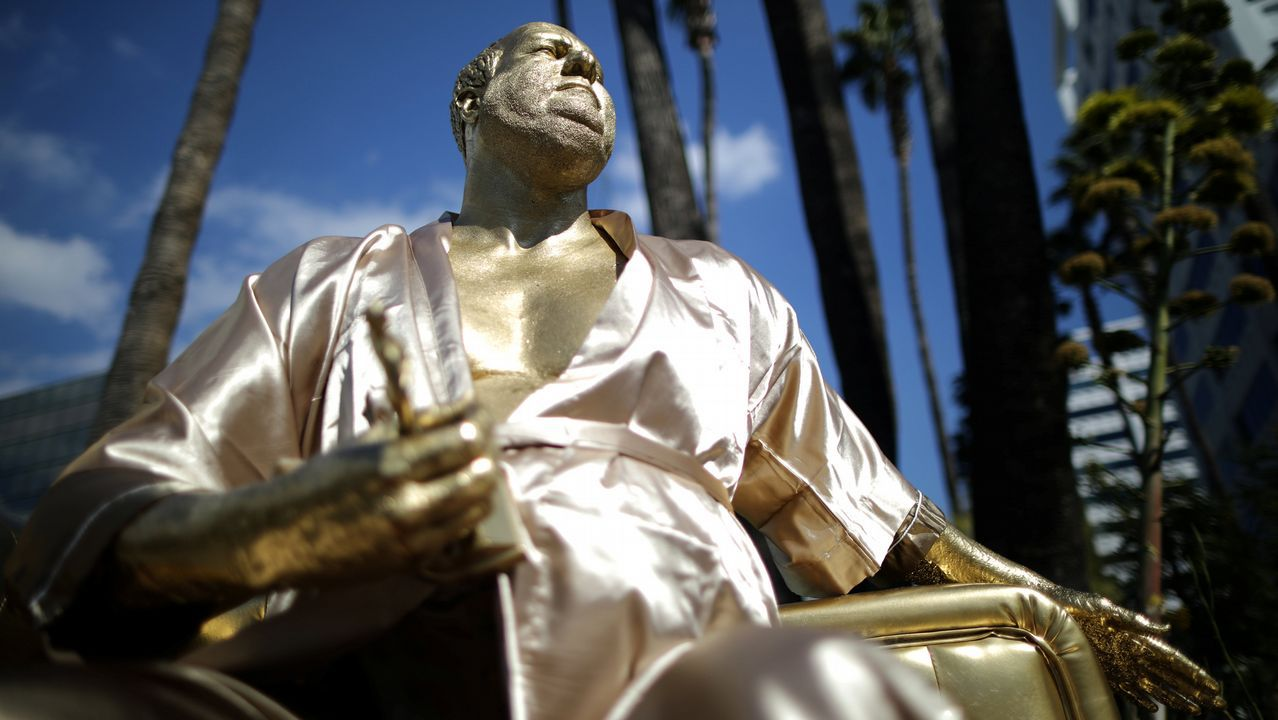 Los ganadores de los Óscars, en imágenes.Escultura de Weinstein