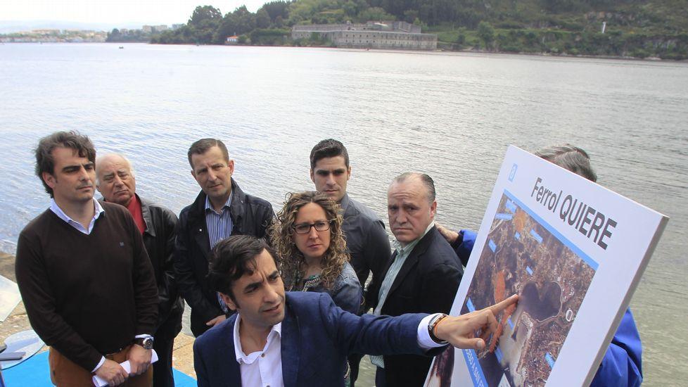 El PP de Ferrol trasladó su campaña ayer hasta el castillo de San Felipe