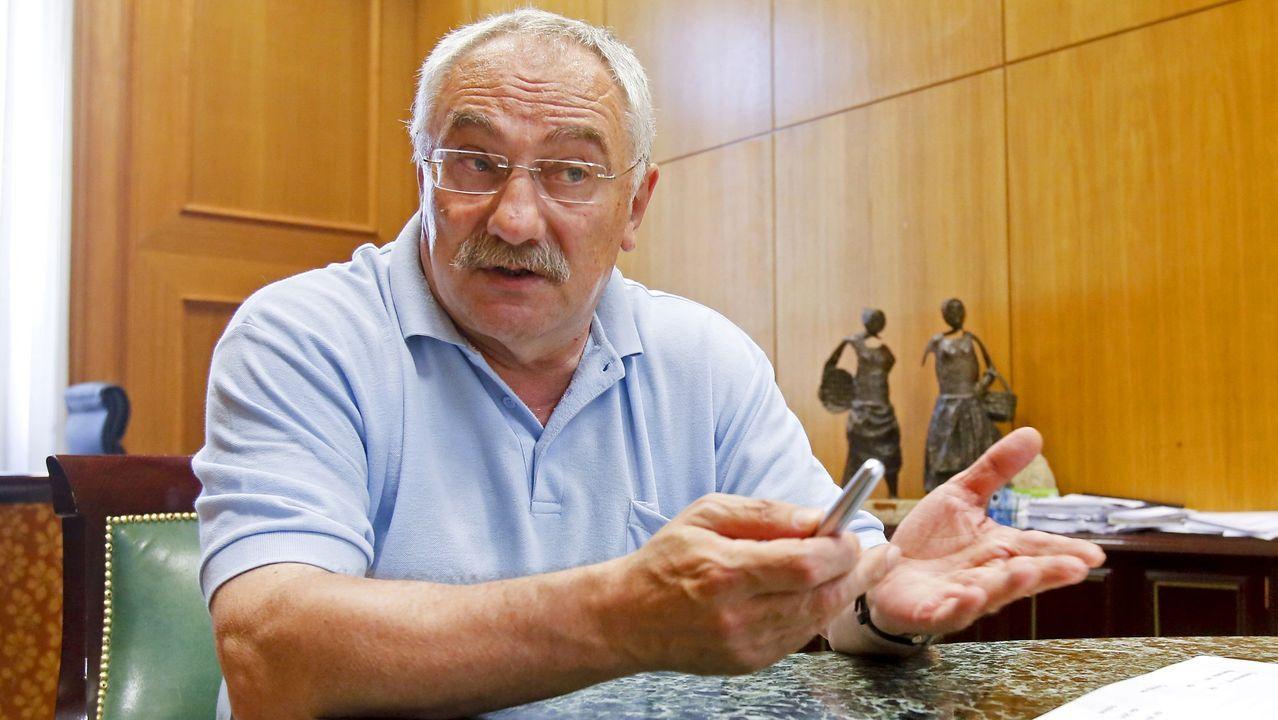 Así se está desarrollando el cribado de O Vao.César Mosquera, concejal y vicepresidente de la Diputacion de Pontevedra