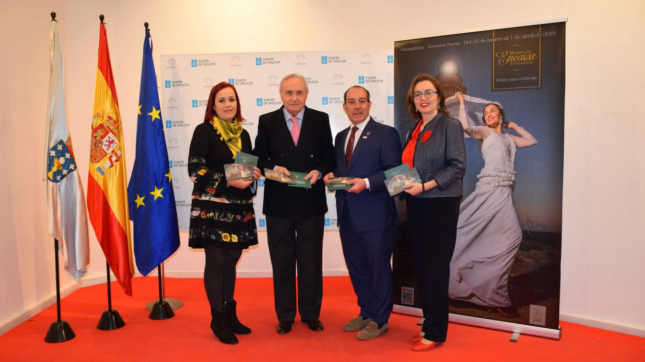 Arrancó la 28.ª Mostra do Encaixe de Camariñas: ¡No te pierdas las mejores imágenes!.Presentación de la nueva edición de la Mostra en la Deputación da Coruña, el pasado mes de diciembre.