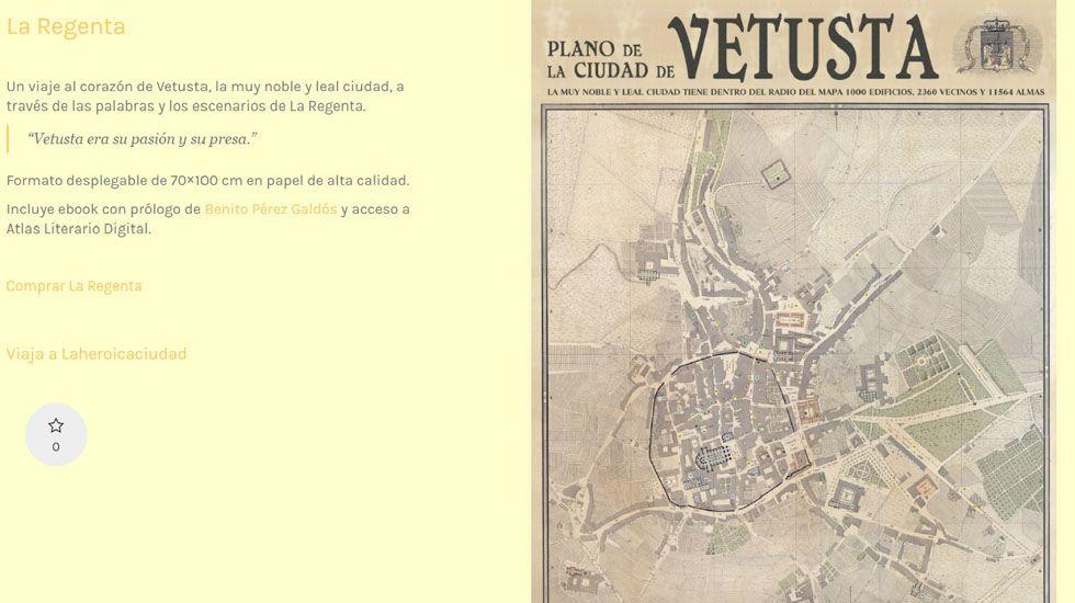Plano de la ciudad de Vetusta elaborado por la editorial gijonesa Aventuras Literarias.Plano de la ciudad de Vetusta elaborado por la editorial gijonesa Aventuras Literarias