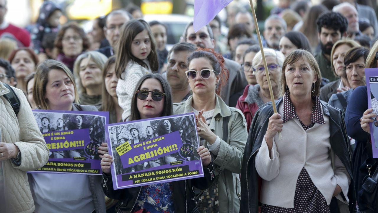 Manifestación en A Coruña contra la sentencia a La Manada