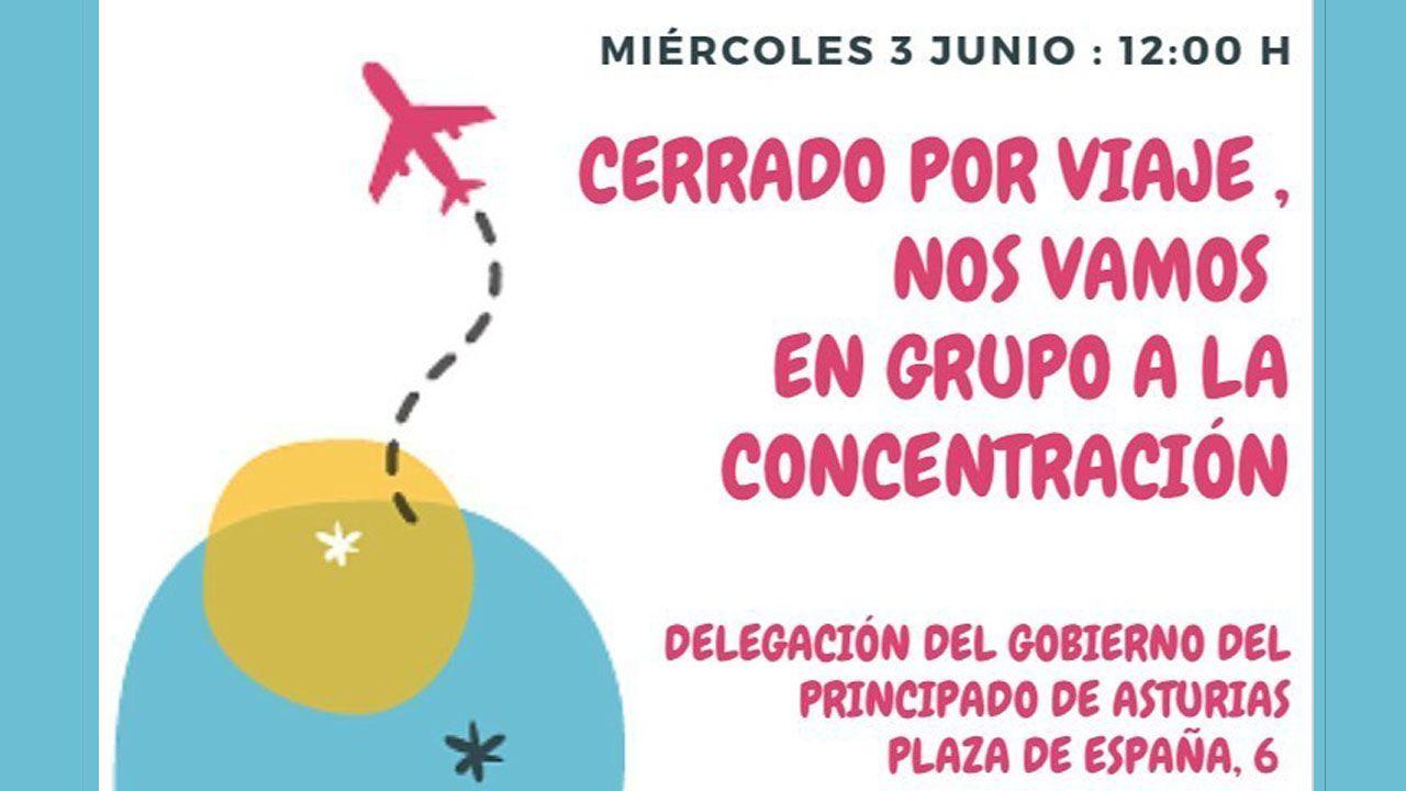 Trabajadores del sector de las agencias de viajes protagonizaron una protesta en Ourense