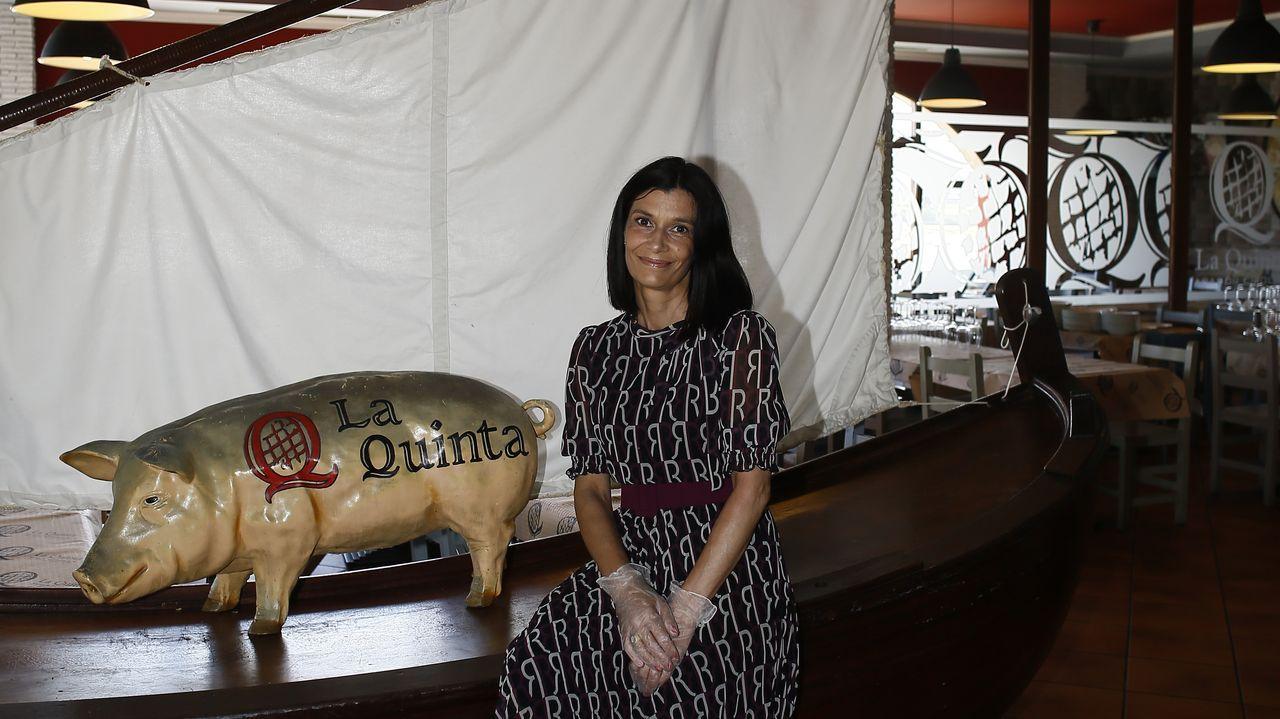 Esther Montero, gerente de La Quinta, un grupo que hasta el covid-19 generaba en A Mariña alrededor de 50 puestos de trabajo entre Viveiro, Foz y Ribadeo