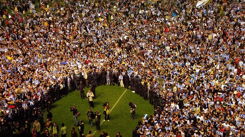 Las imágenes de un triunfo para la historia.El Deportivo trabaja en la idea de realizar todos los entrenamientos a puerta cerrada.