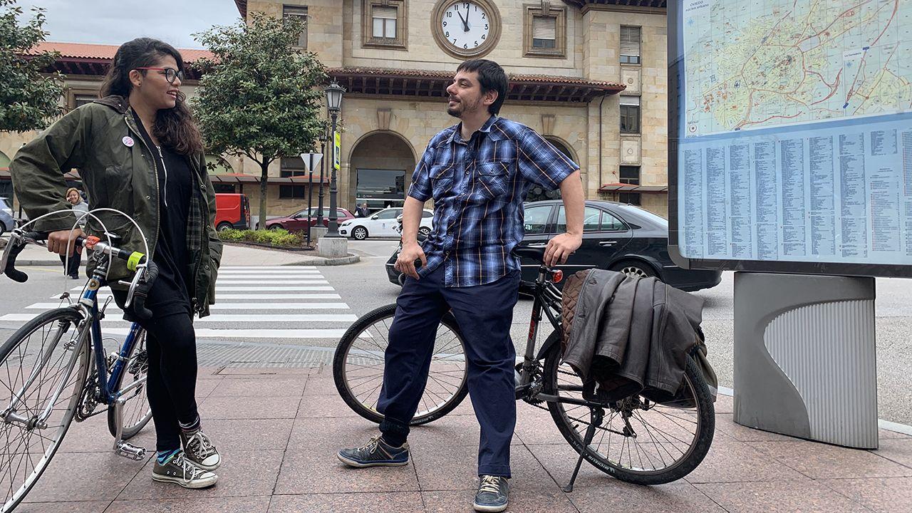 Los candidatos de Somos Oviedo, Ignacio Fernández del Páramo y Evelin Villegas