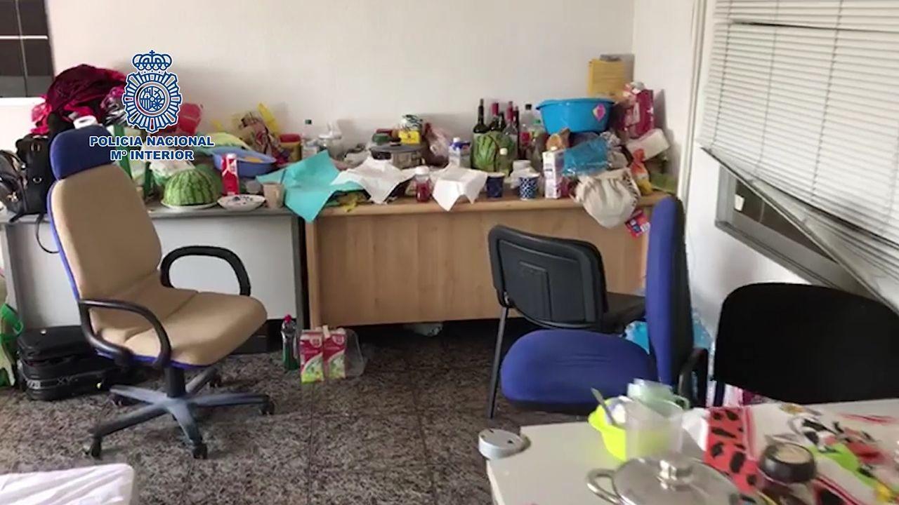 Imagen de las instalaciones en las que vivían los inmigrantes