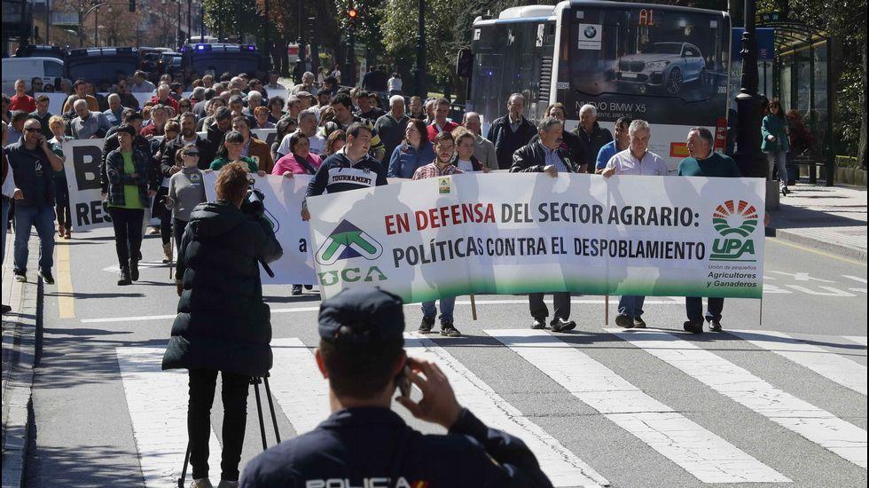 Manifestacion de ganaderos en Oviedo
