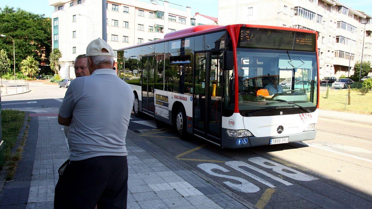 El paso de Karim por Pontevedra en imágenes.Las nuevas líneas sustituirán a las actuales rutas entre Monte Porreiro y el centro urbano