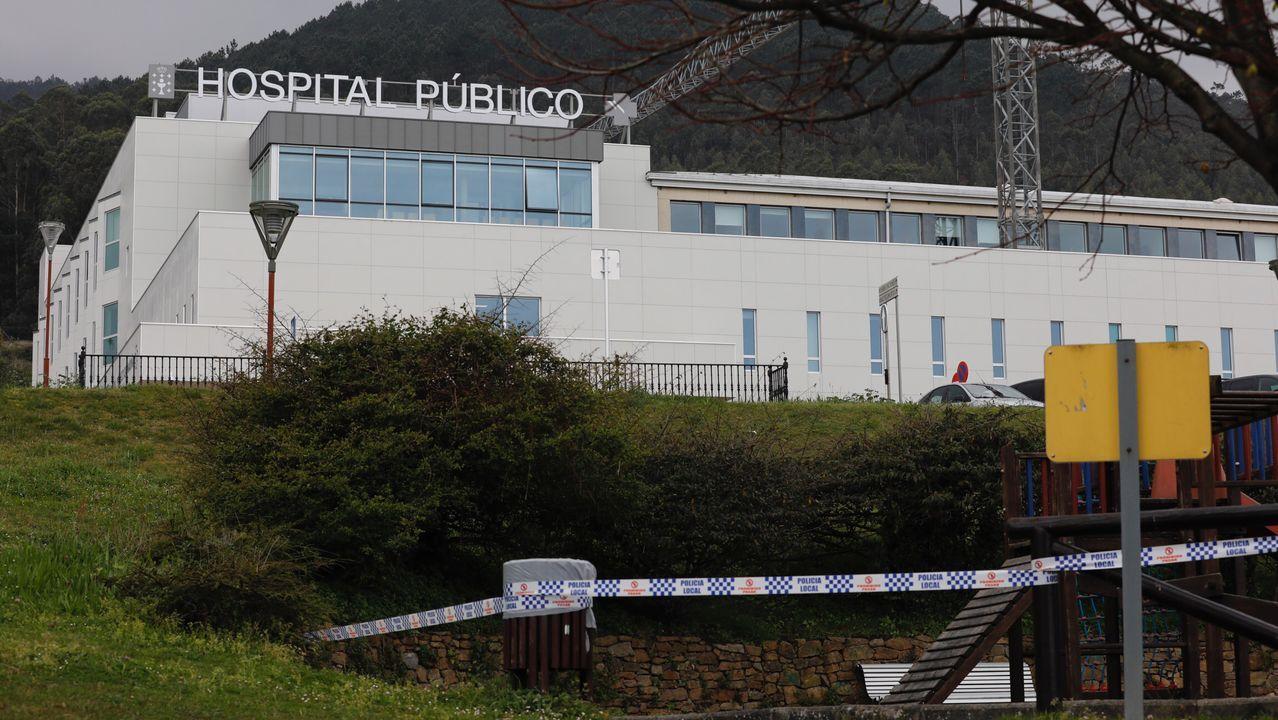 Parte del exterior del Hospital da Mariña, situado en Burela
