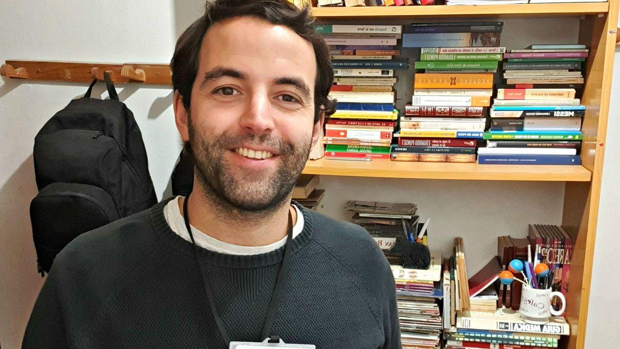 Guido Álvarez, en su casa