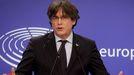 Carles Puigdemont, en una imagen de archivo de marzo del 2021, en el Parlamento Europeo