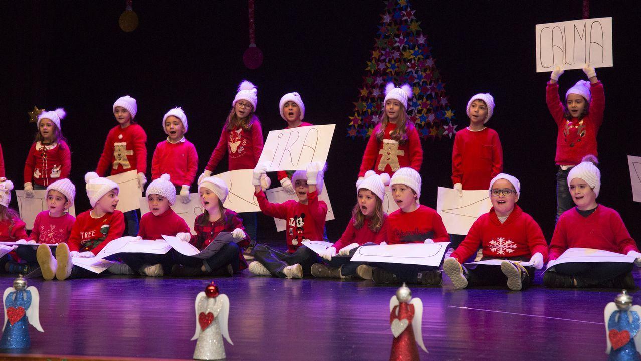 El festival navideño del colegio Artai carballés, en imágenes.Bolardos en la calle San Francisco de Oviedo