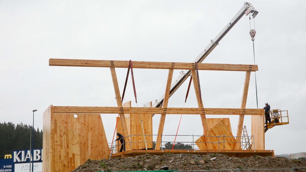 Obras de construcción del edificio de Impulso Verde en A Garaballa