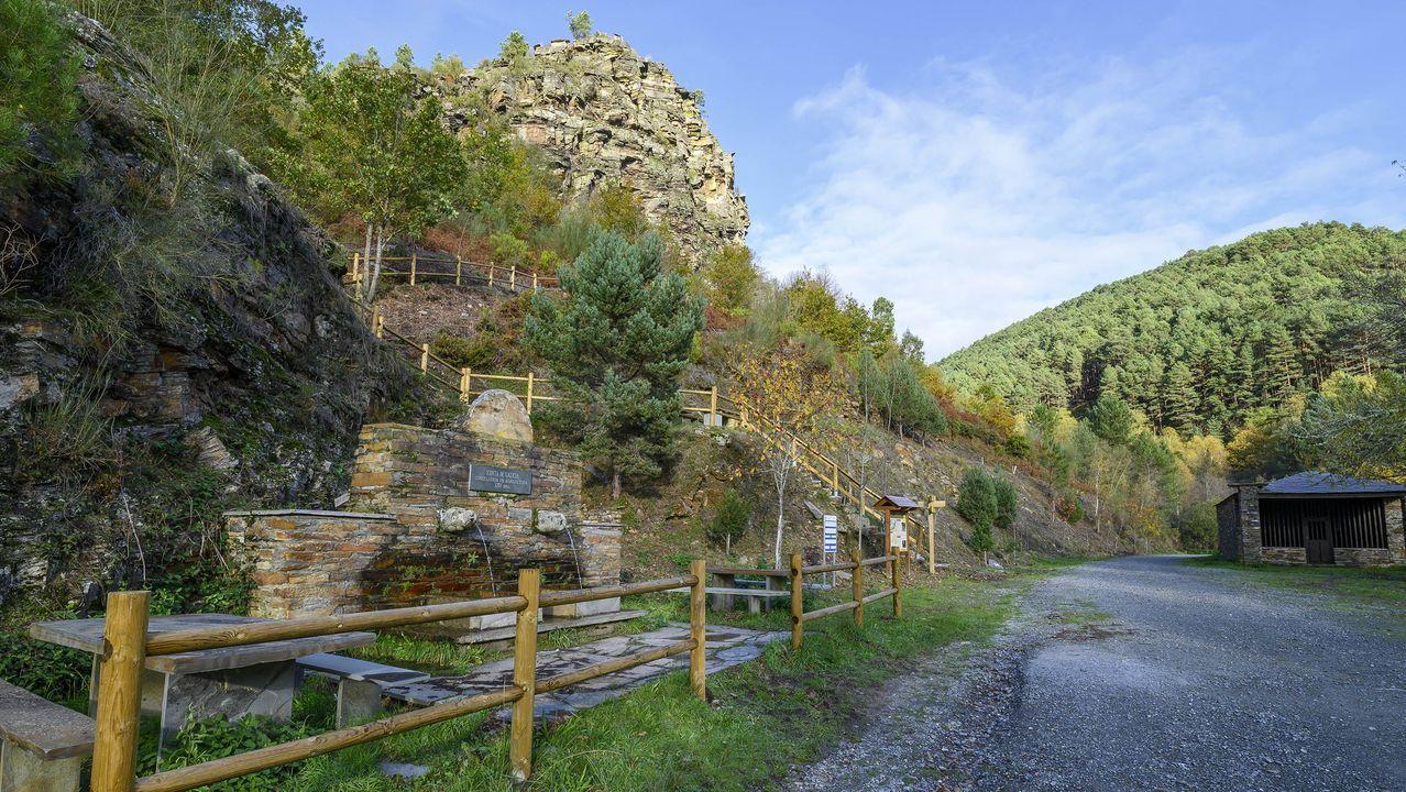 Inicio de la ruta en San Vitoiro