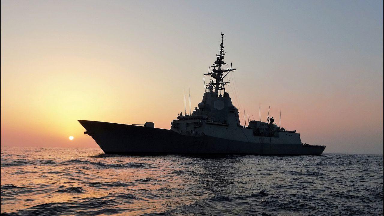 Las imágenes del 26M en Ferrol, Eume y Ortegal.El buque hizo escala en la capital de la isla menorquina en la navegación de regreso a Ferrol