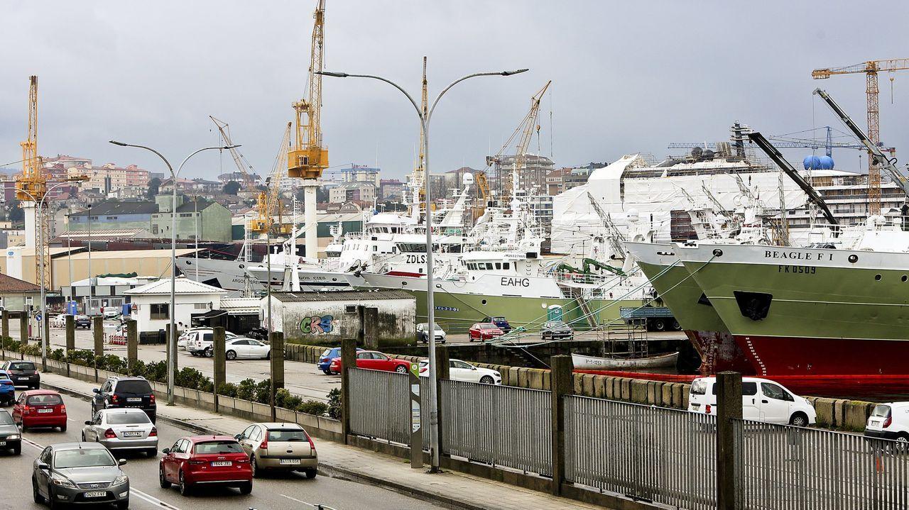 Barcos de la flota de altura en Beiramar