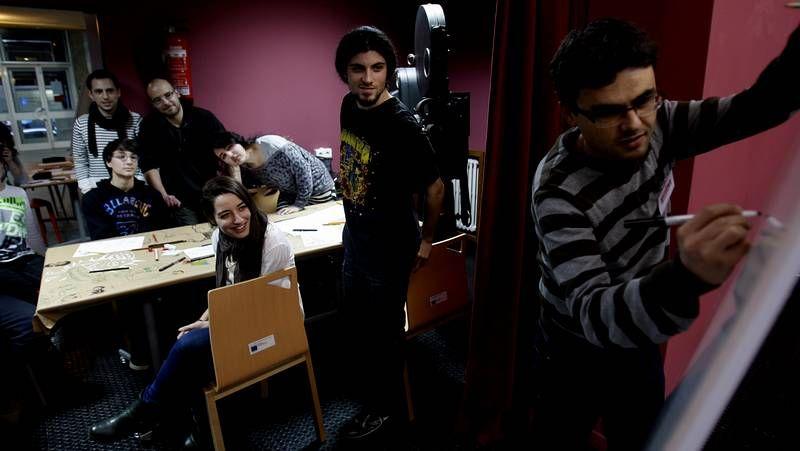 Chelo Loureiro, nas oficinas da produtora Abano.
