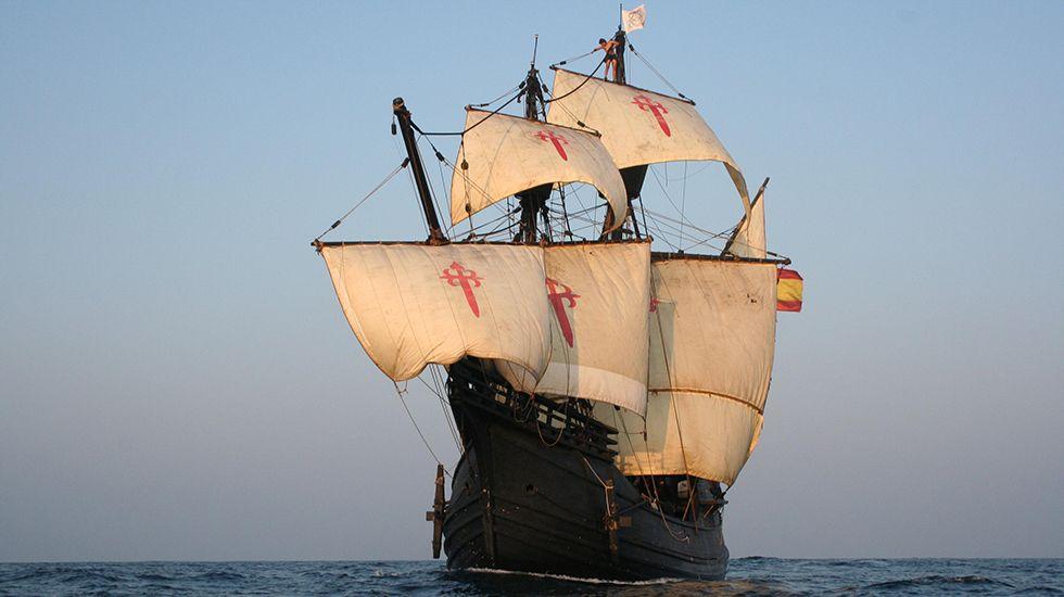 El barco Nao Victoria.Trabajos de Gabadi en un astillero chino, en foto de archivo