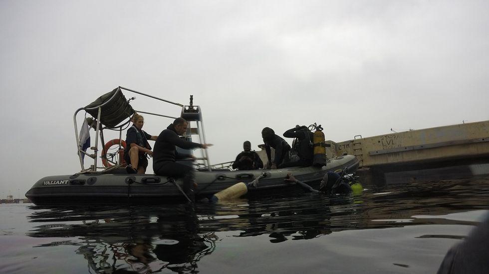 Vista de la embarcación rápida de la «Blas de Lezo»